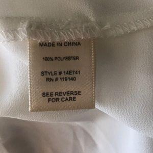 Double Zero Tops - Double Zero, Sheer cream high low blouse